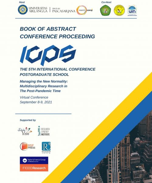 cover abstract book 5th ICPS